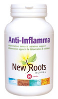 New Roots Anti-Inflamma 600 mg, 90 Capsules | NutriFarm.ca