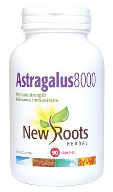 New Roots Astragalus 8000 (500 mg Immune Strength), 90 Capsules | NutriFarm.ca