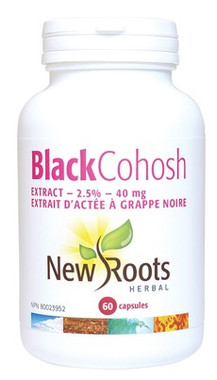 New Roots Black Cohosh 40 mg, 60 Capsules | NutriFarm.ca