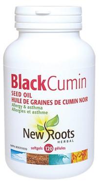 New Roots Black Cumin Seed Oil 500 mg, 120 Softgels | NutriFarm.ca