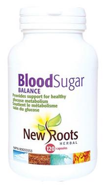 New Roots Blood Sugar Balance, 120 Capsules | NutriFarm.ca