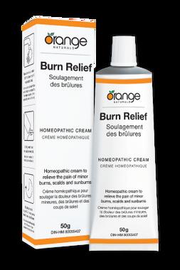 Orange Naturals Burn Relief Homeopathic Cream, 50 g | NutriFarm.ca