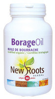 New Roots Borage Oil (Certified Organic) 1000 mg, 90 Softgels | NutriFarm.ca