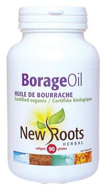 New Roots Borage Oil (Certified Organic) 1000 mg, 90 Softgels | NutriFarm.ca