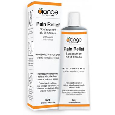 Orange Naturals Pain Relief Homeopathic Cream, 50 g | NutriFarm.ca