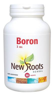 New Roots Boron 3 mg, 90 Capsules | NutriFarm.ca