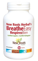 New Roots Breathe Easy (Certified Organic, Formerly Called Stop Smoking) 650 mg, 100 Capsules | NutriFarm.ca