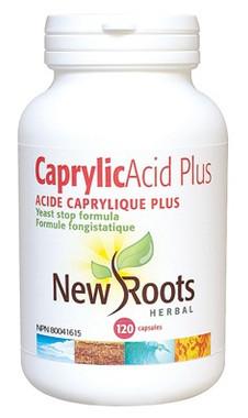 New Roots Caprylic Acid Plus, 120 Capsules | NutriFarm.ca