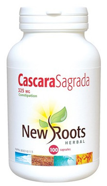 New Roots Cascara Sagrada 325 mg, 100 Capsules | NutriFarm.ca