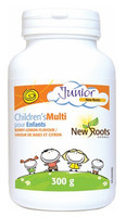 New Roots Children's Multi (Berry-Lemon Flavour), 300 g | NutriFarm.ca