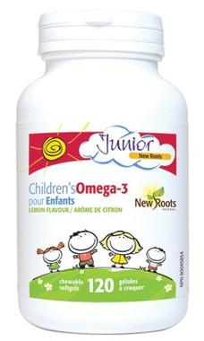New Roots Children's Omega-3, 120 Chewable Softgels | NutriFarm.ca