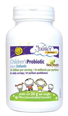 New Roots Children's Probiotic 10 Billion (67 Daily Portions), 20 g | NutriFarm.ca