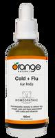Orange Naturals Cold + Flu for Kids Homeopathic, 100 ml | NutriFarm.ca
