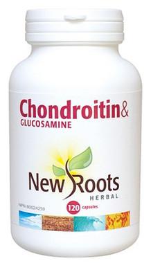 New Roots Chondroitin & Glucosamine 900 mg, 120 Capsules   NutriFarm.ca