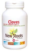 New Roots Cloves 500 mg, 100 Capsules | NutriFarm.ca