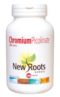 New Roots Chromium Picolinate 200 mcg, 100 Capsules | NutriFarm.ca