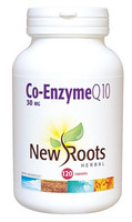 New Roots Co-Enzyme Q10 30 mg, 120 Capsules | NutriFarm.ca