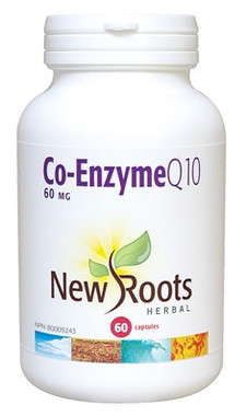New Roots Co-Enzyme Q10 60 mg, 60 Capsules | NutriFarm.ca