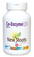 New Roots Co-Enzyme Q10 100 mg, 60 Capsules | NutriFarm.ca