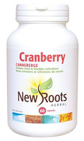 New Roots Cranberry 600 mg, 60 Capsules | NutriFarm.ca