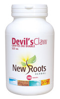 New Roots Devil's Claw 525 mg, 100 Capsules | NutriFarm.ca