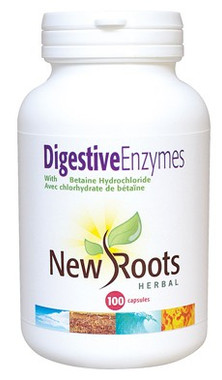 New Roots Digestive Enzymes, 100 Capsules | NutriFarm.ca