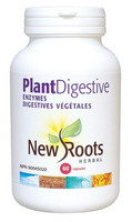 New Roots Plant Digestive Enzymes, 60 Capsules | NutriFarm.ca