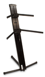 Ultimate Support Apex AX-48 Pro Black - Two-tier Portable Column Keyboard Stand