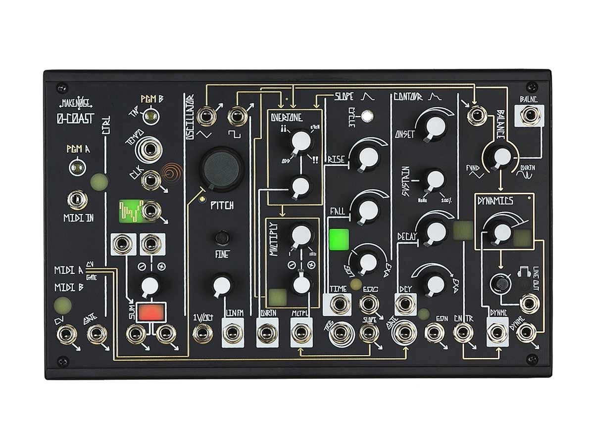 make noise 0 coast single voice patchable synthesizer three wave music. Black Bedroom Furniture Sets. Home Design Ideas