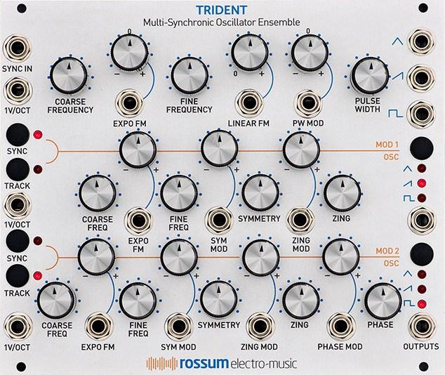 Rossum Electronics Trident Eurorack Module Multi-Synchronic Oscillator  Ensemble
