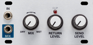 Intellijel Pedal I/O 1U Effects Pedal Send/Return Module and High Impedance Instrument Input