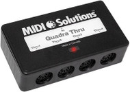 MIDI Solutions 1 in 4 out MIDI Quadra Thru Box