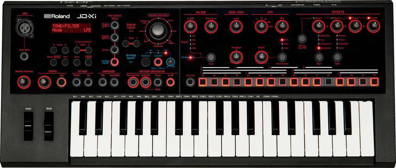 Roland JD-Xi - Interactive Analog/Digital Crossover Synthesizer
