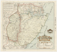 Tourist map of the National Park, NSW, 1934