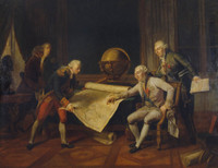 Louis XVI giving final instructions to the Comte de la Perouse, 1785