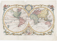 The world, including the late discoveries, by Captain Cook and other circumnavigators.