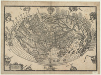 World map showing eastern hemisphere, with part of America, c.1522