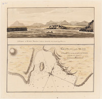 Chart of Port Praya in the Island of St Jago, Cape Verde Islands.