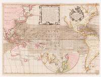 Nova & accuratissima totius terrarum tabula nautica Variationum magneticarum index juxta observationes, left side, 1700