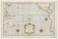 Carte réduite des mers comprises entre l'Asie et l'Amérique apelées par les navigateurs Mer du Sud ou mer Pacifique ... , 1742