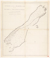 A chart of part of New Zeland of the Island of Tovypoenamm, lying in the South Sea, 1770