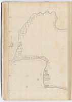 Tahiti by Samuel Wallis, sketches bound within 'The English pilot'. Left side.