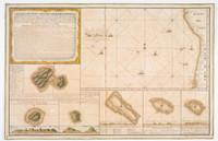 Manuscript chart of the main island of Amat, or Tahiti, 1775