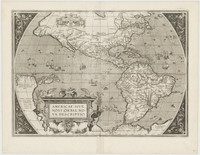 Americae sive novi orbis, nova descriptio, 1589