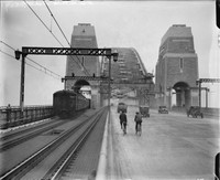First Cars and Trains Across Harbour Bridge