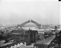 View from North Sydney Showing the Near Closure of Two Spans, 1930