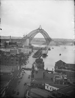 View of Harbour Bridge from Pitt Street, 1930