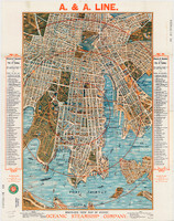 Bird's Eye View Map of Sydney, 1905