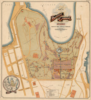 Plan of the Botanic Gardens, Sydney, 1914