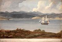 Panorama of Hobart, c.1825 Panel 6